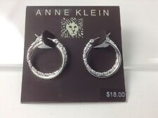 Women's Anne Klein Silver Double Rings Earrings - $18 MSRP - 45% off
