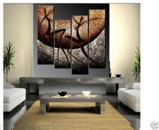 4pc HUGE MODERN ABSTRACT WALL DECOR ART CANVAS OIL PAINTING no framed #1088