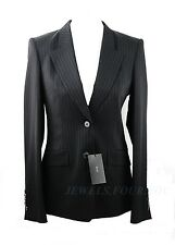 HUGO BOSS PINSTRIPE NAVY STRETCH 99% WOOL JUICYRANA BLAZER JACKET SZ 0 NEW $645