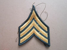 Sergeant Green Gold Rank Insignia Military Woven Cloth Patch Badge (L1K)