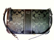 Coach Signature Black Canvas and Leather Purse New Condition Never Used