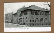Eau Claire,WI Wisconsin Ingram Block and Grand Avenue used 1910