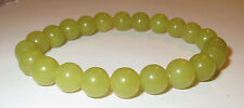 HEALERITE 8MM ROUND SMOOTH MAGNESIUM SILICATE NATURAL CRYSTAL BRACELET