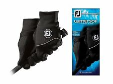 New FootJoy WinterSof Men's Golf Gloves Black Size XL X-Large 1 Pair Winter Sof