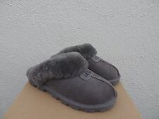 UGG COQUETTE GREY SUEDE SHEEPSKIN SLIPPERS, WOMENS US 12/ EUR 43  ~ NEW IN BOX
