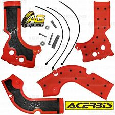 Acerbis X-Grip Red Frame Guards Protectors Honda CRF 450R 2014 Motocross Enduro