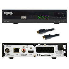 Digital HD cable receiver Xoro HRK 7658 USB LAN HDMI SCART EPG DVB-C TV recepciones