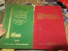 Lot of 2 Mayor Edward Biertuempfel - Christmas around the world  RND