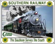 SOUTHERN RAILWAY TIN SIGN #2 / Southern Cresent / Steam Engines / Train Wall Art