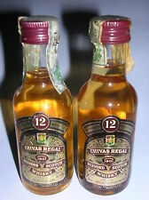 2  MIGNON  CHIVAS REGAL  BLENDED SCOTCH WHISKY  12 YEARS OLD  5CL