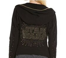 Women's Star Wars Logo Embellished Open Front Hoodie - STAR WARS FLY AWAY HOODIE