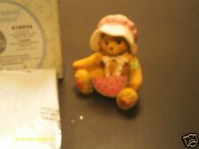 Cherished Teddies _  LONDA -  girl w/ watermelon -  A Sweet Friendship is.......
