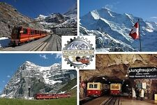 SOUVENIR FRIDGE MAGNET of THE JUNGFRAUBAHN TRAIN SWITZERLAND