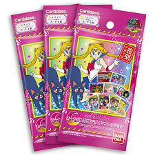Sailor Moon Carddass Revival Collection Card x3 Booster Pack Set Bandai *USA*