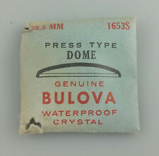 VINTAGE BULOVA PRESS TYPE DOME WRIST WATCH CRYSTAL - 28.5mm - PART# 1653S