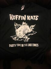 (3) Brand New Koffin Kats Shirts All 3 Variations Lot, Size Large Psychobilly/