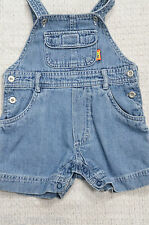 Baby Boys Blue Denim Dungarees UK Age 0-3 Months *Will Combine Post*