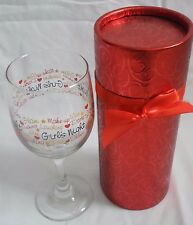 Wine Glass in Decorative Box features GIRL'S NIGHT OUT - Party Glass! RED