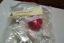The Cracker Box Beaded Christmas Ornament Kit Shady Lady in Rose/Red Complete
