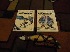 EPIC MICKEY 1 & 2, W/PAINT BRUSH, NINTENDO WII, GREAT SHAPE