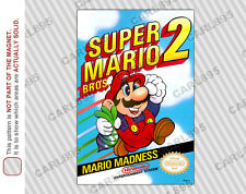 NES - Super Mario Bros 2 Nintendo Box Art Car/Refrigerator Magnet