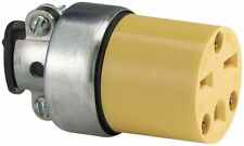 Cooper Wiring 15A/250V Vinyl Armored 3-Wire Extension Cord Connector 2227