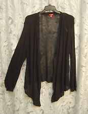BLACK DRAPE OPEN FRONT/WEAVE KNIT CARDIGAN JACKET SWEATER SHRUG TOP~3X~2X~NEW