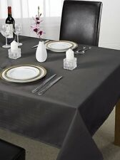 "Luxury Chequers Design Tablecloth Black 70 x 108 "" Large Dining Room Table Linen"