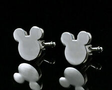 Men`s Boy Wedding Party Gift Mickey Mouse Ears Fashion Cufflinks KZ42