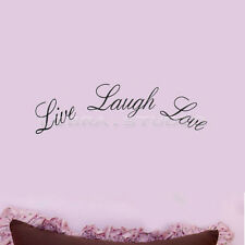 "Quote ""Live Laugh Love"" Wall Stickers Home Decor Vinyl Wall Decor Art Decal"