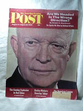 Saturday Evening Post August 11 1962 EISENHOWER Shelley Winters A.L. Baseball