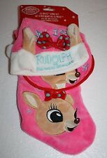 Rudolph the Red Nosed Reindeer BABY'S FIRST CHRISTMAS CLARICE Baby Stocking Set