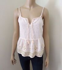 NWT Abercrombie Womens Peasant Top Size Medium Embroidered Shirt Blouse Shine