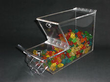 "Bulk foods/ candy, spices, cereal, nuts, yogurt topping bin. 3/16"" clear acrylic"
