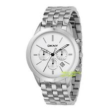 NEW DKNY SILVER TONE STAINLESS STEEL BAND,STRAP CHRONOGRAPH MEN WATCH-NY1436