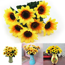 New Fake Sunflower Artificial Silk Flower Bouquet Home Wedding Floral Decor