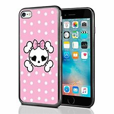 Pink Polka Dots Skull For Iphone 7 Case Cover By Atomic Market