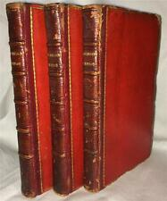 1799 LIFE AND ADVENTURES OF ROBINSON CRUSOE DANIEL DE FOE THREE VOLUMES COOKE