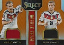 2015 PANINI SELECT SOCCER GOTZE & KROOS 47/149 GERMANY PLAYER WORN JERSEY RELIC