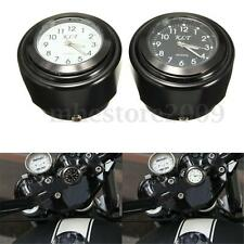 """Universal 7/8"""" 1"""" Motorcycle Motorbike Handlebar Mount Waterproof Dial Clock New"""