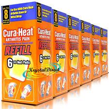 6x Cura Heat Arthritis Pain Refill Wrist Knee Relief 6 Packs (36 Heat Pads)