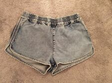 New Without Tags Topshop Moto Denim Shorts Size 10 (W28) Blue
