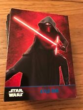 Star Wars The Force Awakens 100 Card Blue Parallel Set Rey Kylo Ren BB8