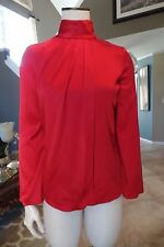 ARMANI COLLEZIONI Red Long Sleeve Silk Blouse Top Shirt  6