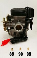 True 20mm Keihin CVK Performance Carburetor and 3 JETS - 139QMB Scooter Engine