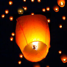 (50) White Paper Chinese Lanterns Sky Fly Candle Lamp for Wish Party Weddin