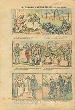 WWI Caricature Guerre Poilus Pickelhaube Chevau-Legers Cadres 1915 ILLUSTRATION