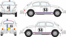 Car Kit Herbie 4 Gumballs 2 Bonet 6 Side Stripes Exterior Vinyl Love Bug Beetle