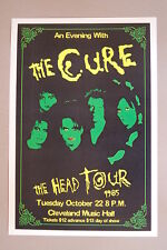 The Cure Concert Tour Poster1985 The Head Tour Cleveland Music Hall