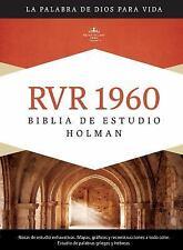 NEW - RVR 1960 Biblia de Estudio Holman, tapa dura (Spanish Edition)